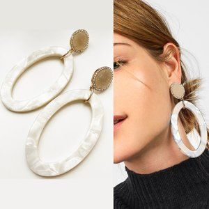 Bauble Bar Triana Crystal Pavé Resin Hoop Earrings